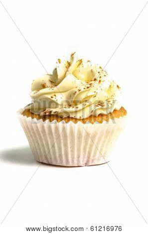 Bege creamed sweet cupcake