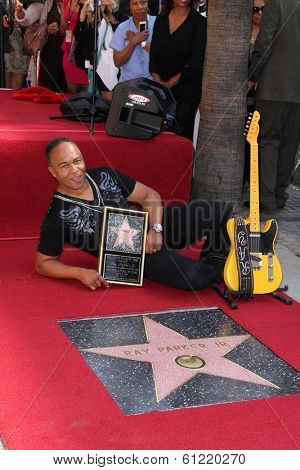 LOS ANGELES - MAR 6:  Ray Parker Jr at the Ray Parker Jr Hollywood Walk of Fame Star Ceremony at Walk of Fame on March 6, 2014 in Los Angeles, CA
