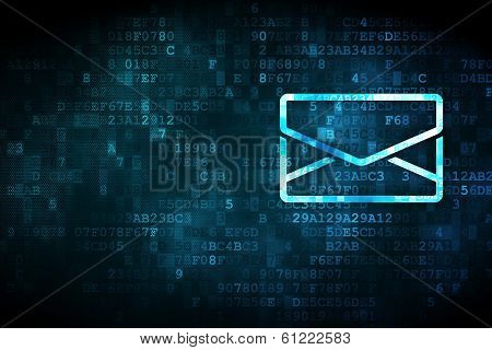 Finance concept: Email on digital background