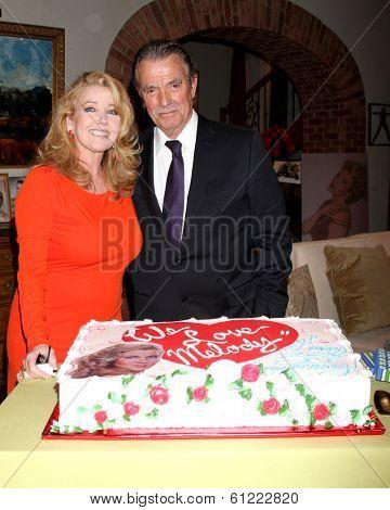 LOS ANGELES - MAR 4:  Melody Thomas Scott, Eric Braeden at the Melody Thomas Scott Celebrates 35 Years at the