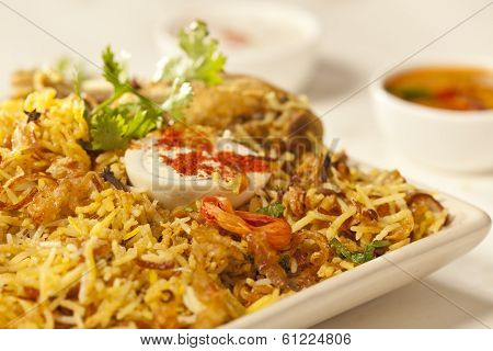 Hot Delicious Chicken Biryani.