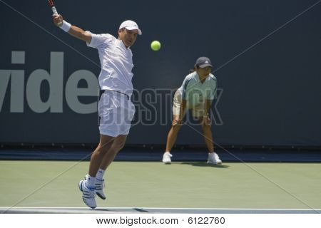 Hyung-Taik Lee at Los Angeles Open