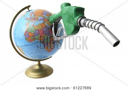 Gas nozzle coming out of globe