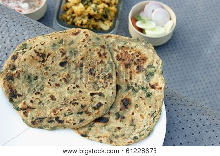 Methi Paratha from India