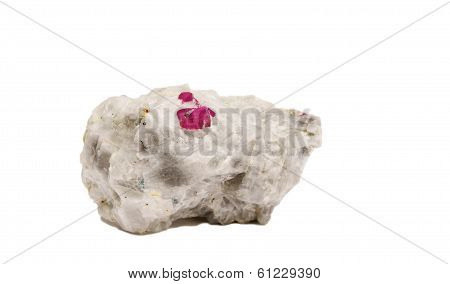 Ruby Crystals On Quartz