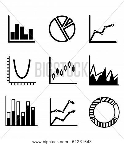 Business statistical charts and graphs