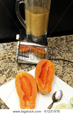 Papaya Seeds Blended