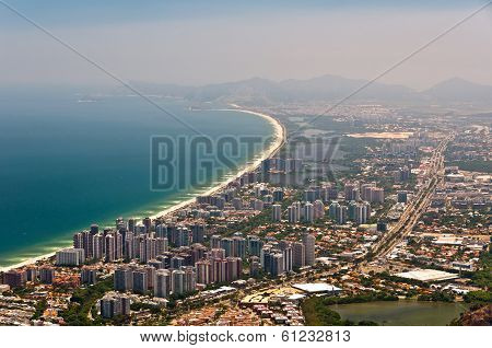 Aerial view of Barra da Tijuca, Rio de Janeiro, Brazil