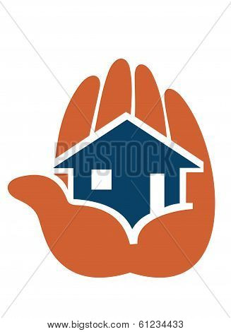 House in people hands