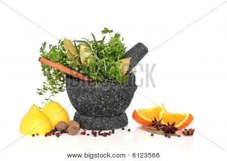 Herb, Spice and Fruit Selection