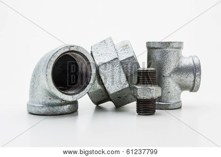 Iron Pipe Fittings For Plumbing.