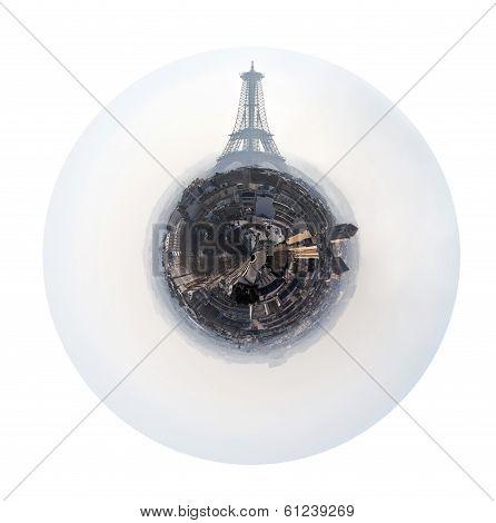 Spherical Panorama Of Paris