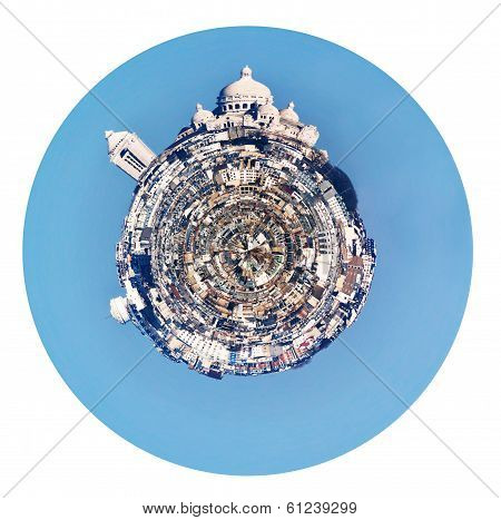 Spherical Panorama Of Montmartre Hill In Paris
