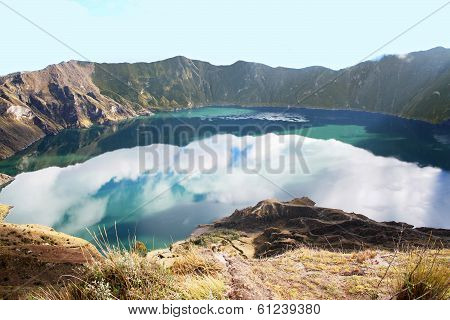 Quilotoa Is A Water-filled Caldera That Was Formed By The Collapse Of The Volcano