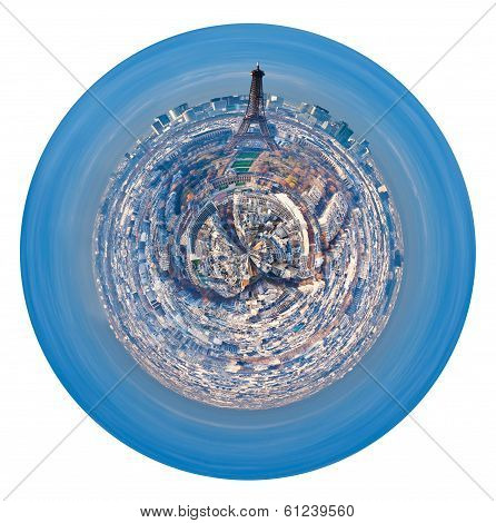 Spherical Cityscape Of Paris