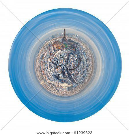 Urban Spherical Panoramic View Of Paris