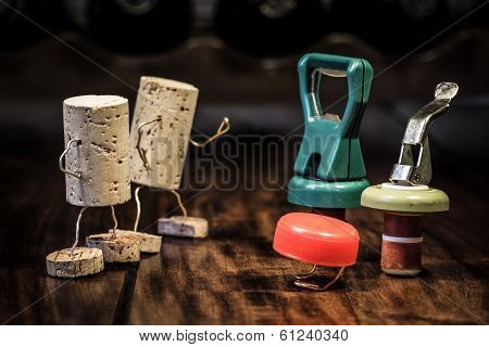 Wine Cork Figures, Concept Competition Between Variety