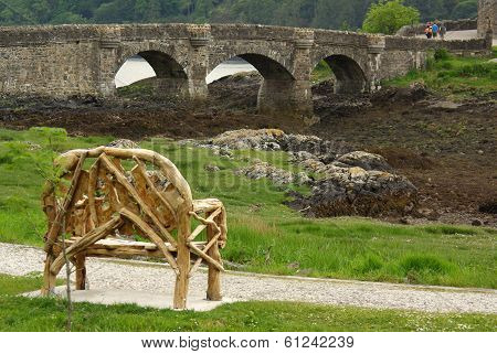 Bridge To Eilean Donan Castle, Scottish Highlands