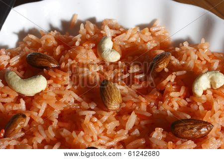 Thahiri is a rice based sweet dish from India