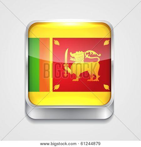 vector 3d style flag icon of sri lanka