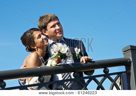 Happy Bride And Fiance