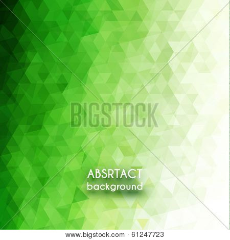 Green triangles background - eps10