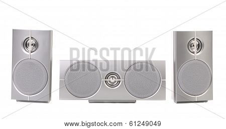 Set of gray sound speakers