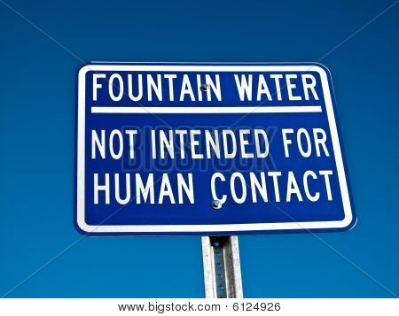 Water Fountain Sign
