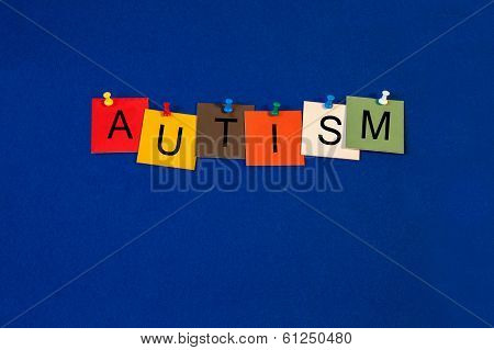 Autism, Sign Series For Learning And Cognitive Behaviour, Autism Spectrum.