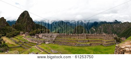 Machu Picchu Main Square And The Group Of The Three Doorways