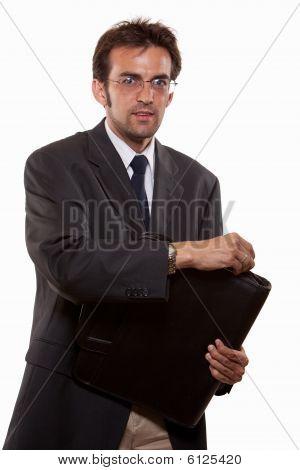 Young Attractive Twenties Caucasian Man In Business Suit