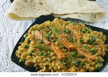 Sabzi dal is a combination of lentil and spices