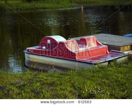 Paddleboats On Lake