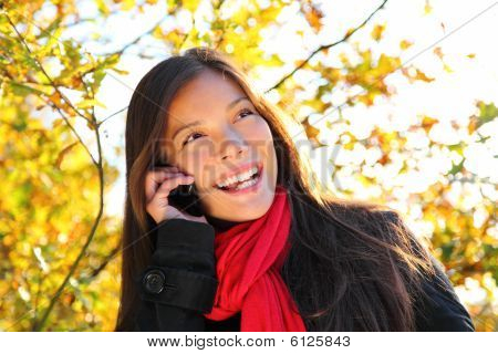 Happy Phone Woman