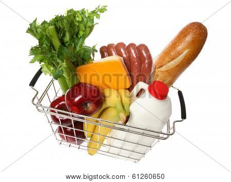 Groceries in Basket