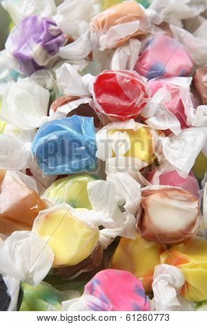 Saltwater taffy close up