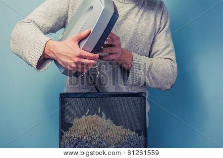 Man With Shredder