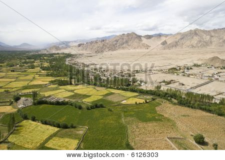 Arial View Of Leh