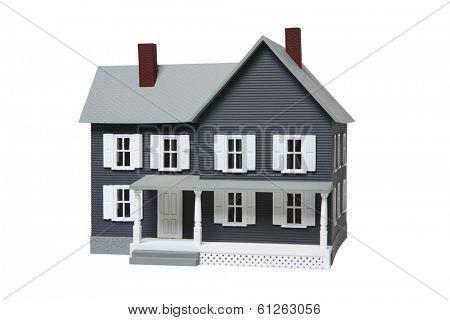 Toy dollhouse on white