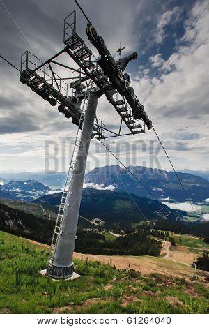 Chair Lift In Austria