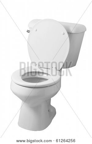 toilet on white background