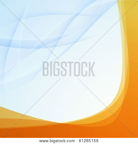 Transparent Orange Border Folder Template