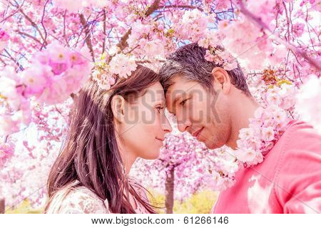 happy springtime summer scenic portrait