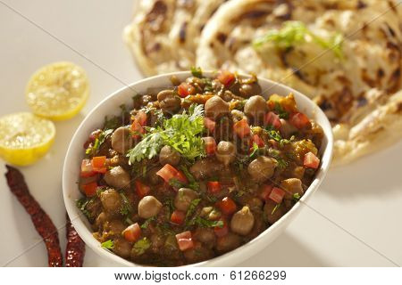 Paratha with sprout masala from India