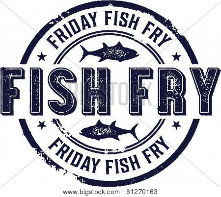 Vintage Friday Fish Fry Sign