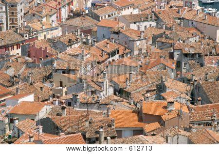 Aerial View Of Rovinj