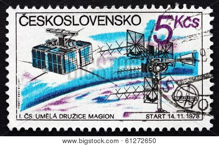 Postage Stamp Czechoslovakia 1980 Czech Satellite Station, 1978