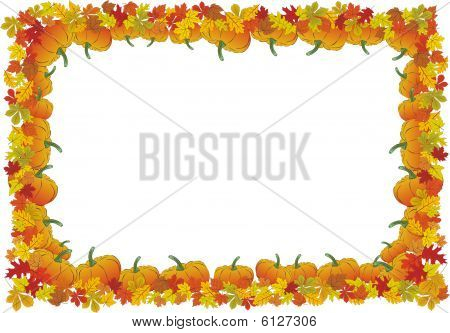 Thanksgiving day autumnal vector frame