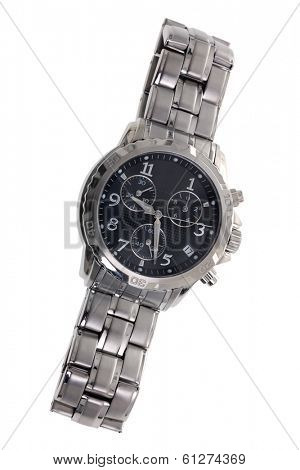 Men's watch cut out on white background