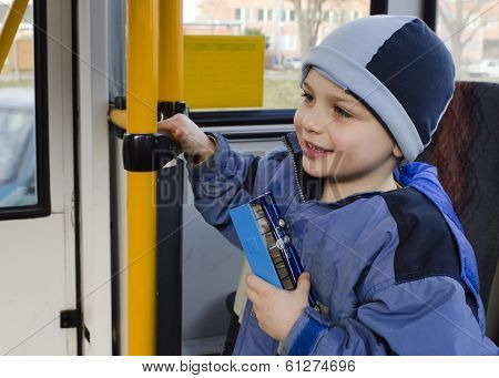 Child On City Bus